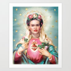 Saint Frida Kahlo Art Print