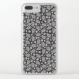 Black and white paisley Clear iPhone Case