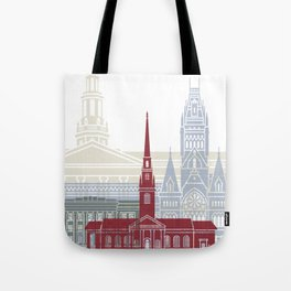Harvard skyline poster Tote Bag