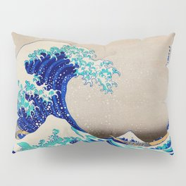 extreme waves-by-Katsushika Hokusai Pillow Sham