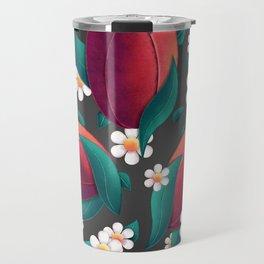 Bouquet (Tulipes et Marguerittes) Noir Travel Mug
