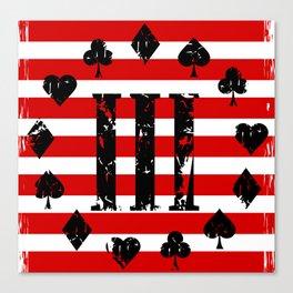 Three Percenter Aces USA Flag Canvas Print