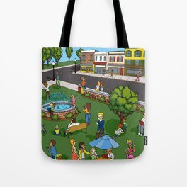 A Digital Day at the Fountain Tote Bag
