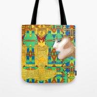 nouveau Tote Bags featuring Nouveau Girl by Steve W Schwartz Art