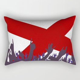 Alabama State Flag with Audience Rectangular Pillow