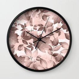 Watercolor Autumn Leaves 8 Wall Clock