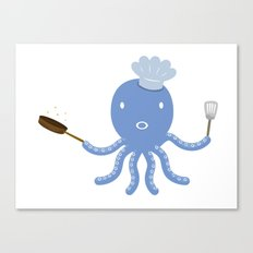 Octopus shef Canvas Print