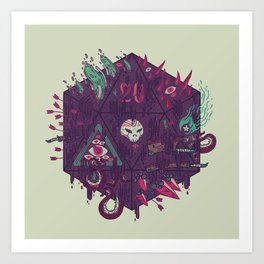 Die of Death Art Print