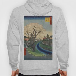 Spring Cherry Trees Blossoms Ukiyo-e Japanese Art Hoody