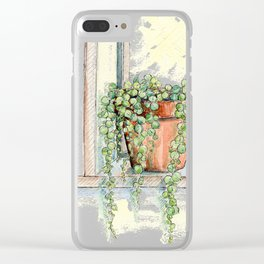 String of Pearls Plant, Still Life Clear iPhone Case