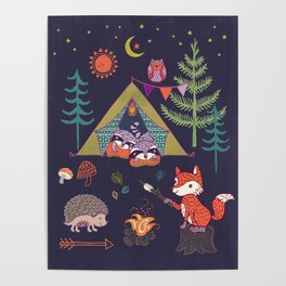 Racoon's Campout Poster