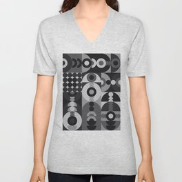 Geometry Games V / Black Palette Unisex V-Neck