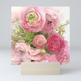 Shabby Chic Cottage Ranunculus Peonies Roses Floral Print Home Decor Mini Art Print