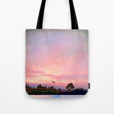 Rose Quartz and Serenity Landscape Tote Bag