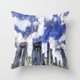 Stonehenge Starry Night Throw Pillow