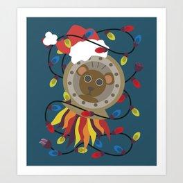 Spacebear from Wandering Way Christmas Art Print