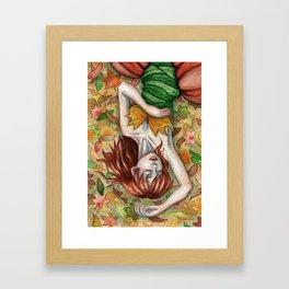 Autumn Girl Gerahmter Kunstdruck