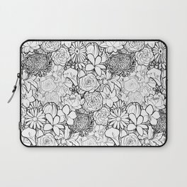 Clean & bright white flowers Laptop Sleeve