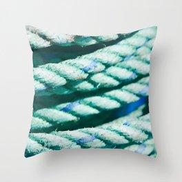 Nautical Rope II Throw Pillow
