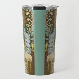 "Alphonse Mucha ""Feather"" Travel Mug"
