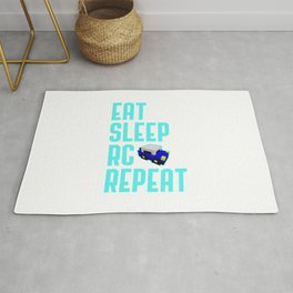 Eat Sleep RC Cars Repeat Funny Racing Quote Rug