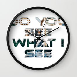 Do You See What I See Wall Clock
