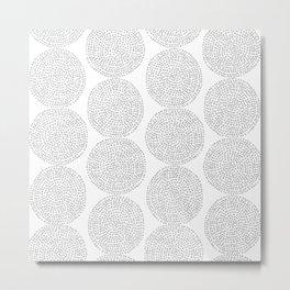 Beech in Grey Metal Print