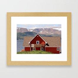 Postcard from Newfoundland Framed Art Print