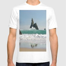 BroadHaven South Beach.Pembrokeshire.Wales. MEDIUM White Mens Fitted Tee