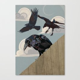 Invasion of the Crows Canvas Print