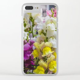 Summer Solstice Mix Snapdragons 5 Clear iPhone Case
