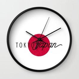 Tokyo Japan Red Flag Classic Keepsake Souvenir Gift Wall Clock