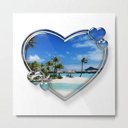 I Love Bora Bora Metal Print
