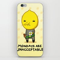 lemongrab iPhone & iPod Skins featuring Yay Monday, Lemongrab by fablefire
