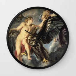 Peter Paul Rubens - The Kidnapping Of Ganymede. Wall Clock