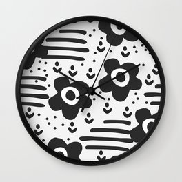 Abstract with flowers Wall Clock