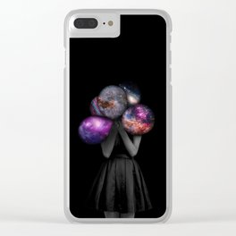 space balloons Clear iPhone Case