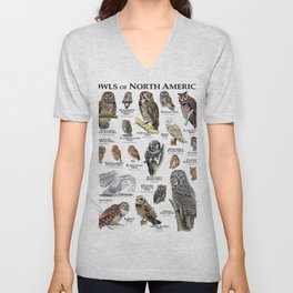 Owls of North America Unisex V-Neck