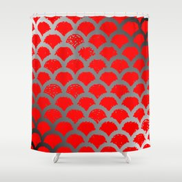 red and black gradient Shower Curtain