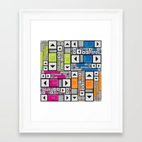 popart Framed Art Prints featuring ScrollBar PopArt by Roberlan Borges