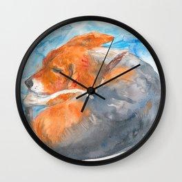 Sleeping Beagle Wall Clock