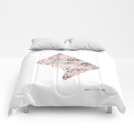 District of columbia map Portrait Comforters