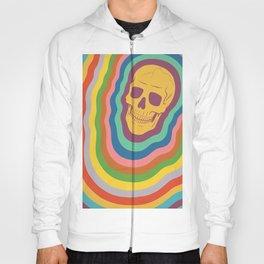 Trippy Rainbow Skull Hoody