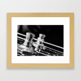 In Tune close up electric guitar tuning post and string Framed Art Print