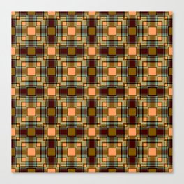 Brown abstract Checkered pattern . Canvas Print