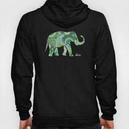 Love Elephant Gift PAisely Hoody