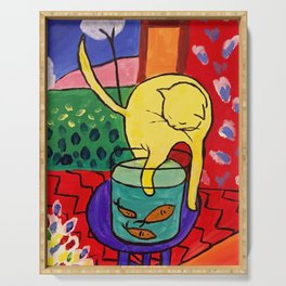 Cat with Red Fish- Henri Matisse Serving Tray