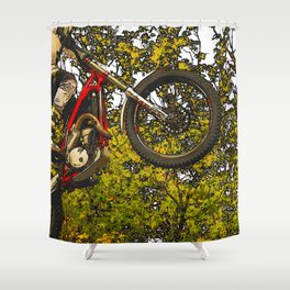 Airtime - Dirt-bike Racer Shower Curtain