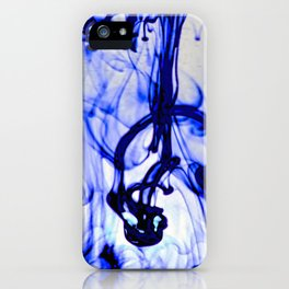Blue Ink iPhone Case