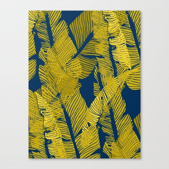 Carved Yellow&Blue Jungle #society6 #decor #buyart Canvas Print